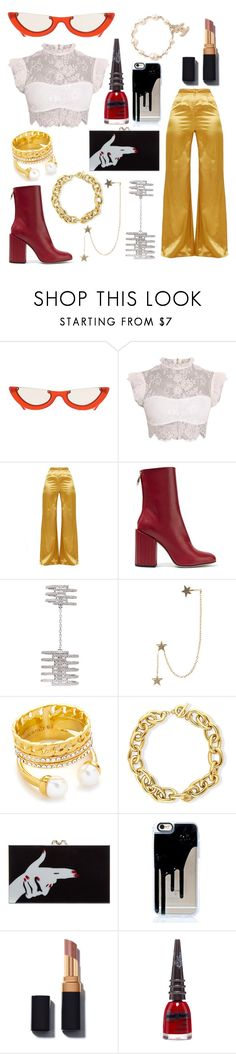 """""""mamacita"""" by sashalisnevsky ❤ liked on Polyvore featuring Petar Petrov, Messika, Zimmermann, Vita Fede, BERRICLE, Charlotte Olympia, Manic Panic NYC and Chanel"""