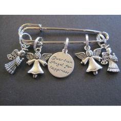Guardian Angel - Silver Knitting Stitch Marker Set