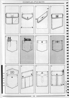 New Sewing Drawing Pockets Ideas Techniques Couture, Sewing Techniques, Pattern Cutting, Pattern Making, Sewing Hacks, Sewing Projects, Sewing Diy, Clothing Patterns, Sewing Patterns