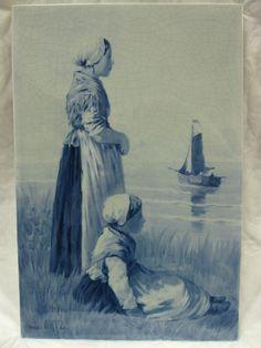 RARE, LARGE De Porceleyne Fles - ROYAL DELFT - TILE - 1894 - after D.A.C. Artz