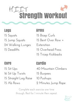 Beginner HIIT Strength Training Workout that's quick and effective