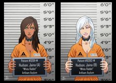 Jaina Hudson And White Rabbit locked up by phil-cho on DeviantArt Gotham Villains, Comic Villains, Dc Comics Characters, Marvel And Dc Superheroes, Marvel Comics, Arte Dc Comics, Arkham Asylum, Joker And Harley Quinn, Film Serie