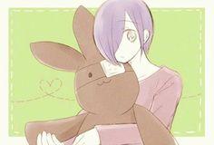 Kaneki Rabbit & Touka <3 Kaneki, Haise, Tokyo Ghoul, Rabbit, Sweet, Rabbits, Bunny Rabbit, Bunnies, Bunny