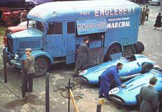 956  Hernando da Silva Ramos e Robert Manzon, Equipe Gordini  Gordini T32, Gordini 2.5 L8, Englebert  IX RAC British Grand Prix, Silverstone, Northamptonshire - Inglaterra