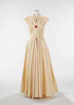 """Pandora"" dress by Elizabeth Hawes, circa 1936, silk. From the online collection of the Brooklyn Museum Costume Collection at The Metropolitan Museum of Art"