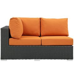 Modway Sojourn Wicker Outdoor Sectional Left Arm Loveseat