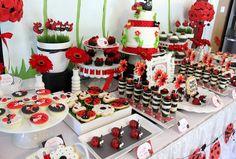 ladybug birthday party centerpiece | Featured Ladybug Themed Birthday Party Party Supplies and Decorations ...