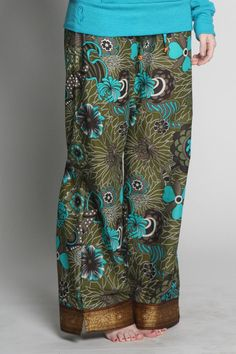 Seema pajama pants by Punjammies, a company employing women in India who were rescued from forced prostitution and are seeking to rebuild their lives. Proceeds from the sales of Punjammies provide the employees fair-trade wages, savings accounts, and holistic recovery care. XL, $39.
