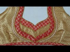 easy blouse  one side nack designe cuttinng and stitching at home 2017 - YouTube