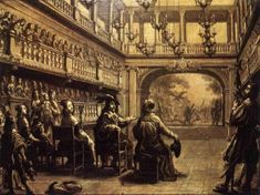 Moliere's company performing 1670
