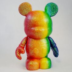 Roy G Biv Mouse Custom Vinylmation by FlightsofFancyDesign on Etsy Disney Souvenirs, Disney Trips, Disney Figurines, Brighten Your Day, Disney Pixar, Mickey Mouse, Dinosaur Stuffed Animal, Rainbow, Toys