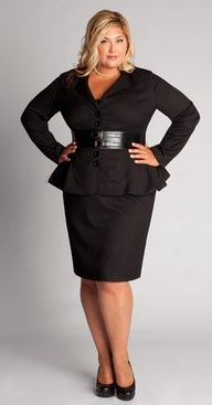5 Things a Curvy Woman Must Consider When Choosing Outfit for Work Plus Size Black Dresses, Plus Size Skirts, Plus Size Outfits, Plus Size Business Attire, Business Casual, Business Suits, Business Clothes, Business Fashion, Career Wear