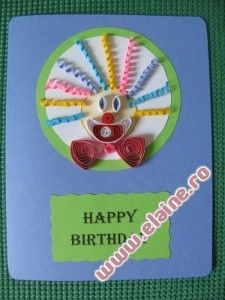 Quilled Clown Birthday Cards | Cards, Paper Quilling | Elaine's Crafts