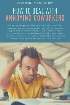 Dealing with clashing personalities at work can be the WORST! Here's how to handle those tricky situations. Annoying Co Workers, Take The High Road, Know It All, Young Professional, It Network, Work Humor, Career Advice, Personality Types, Annoyed