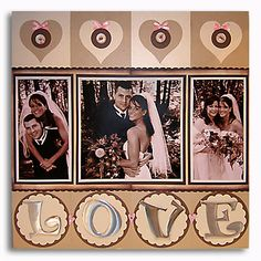 wedding scrapbook page layout