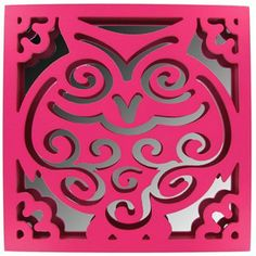 Pink Owl Wall Plaque with Mirror | Shop Hobby Lobby
