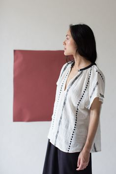 Ace & Jig Voyage Top in Chord | Oroboro Store