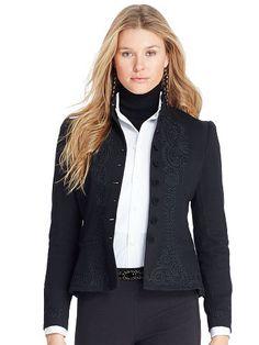 Polo Ralph Lauren Soutache-Trim Wool Jacket - Polo Ralph Lauren Shop All - Ralph Lauren UK
