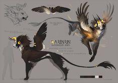 Draw Creatures Darenrin refsheet by Darenrin - Mythical Creatures Art, Mythological Creatures, Magical Creatures, Fantasy Creatures, Creature Drawings, Animal Drawings, Wolf Drawings, Creature Concept Art, Creature Design