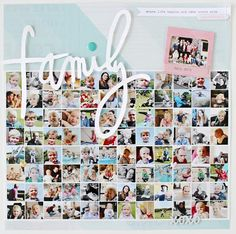 Scrapbooking day and huge collage layout for Papero amo