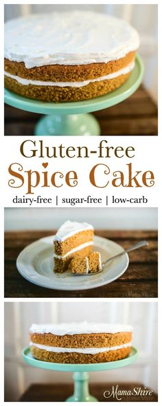 Moist Gluten-Free Spice Cake - perfect cake for fall or anytime! Family favorite! Dairy-Free, Sugar-Free, Low-Carb. Trim Healthy Mama - S