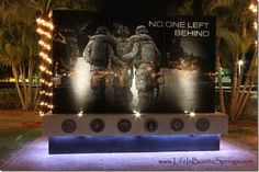 Bonita Springs Veterans Memorial in Riverside Park at Christmas time.  #swfl