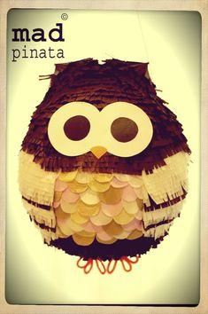 owl pinata created by mad pinata!