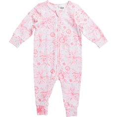 Your little one will be warm and cosy in style in this Dymples Stretch Coverall. Crafted from a stretch cotton fabrication to ensure the garment moves as your infant moves, this one-piece is long sleeved with a full zip front all the way to the ankle for fuss-free changing. The all-over print adds an adorable touch.