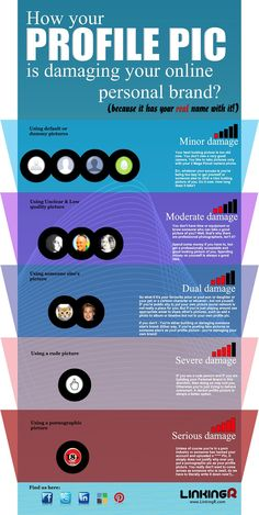 How A Bad Profile Pic Can Damage Your Personal Brand #INFOGRAPHIC #socialmedia
