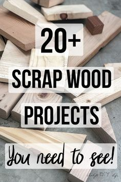25 Simple Scrap Wood Projects for Beginners Love these! Great collection of easy DIY scrap wood projects and ideas! Small projects that are fun to make. Make organization, home decor, storage. These simple projects are perfect for beginner woodworking!