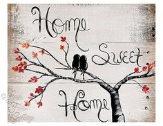 Looking for the perfect gift? This hand painted Home Sweet Home Sign is a unique wedding gift, housewarming gift or anniversary gift. Dimensions: approximately 14 x 10 The wood sign is freeh Diy Home Crafts, Creative Crafts, Wood Crafts, Painted Signs, Wooden Signs, Hand Painted, Wood Signs For Home, Home Signs, Sweet Home
