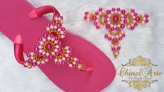 Camilla, Youtube, Decorated Flip Flops, Flip Flop Decorations, Diy, Craft, Woven Bracelets, Baby Shoes Pattern, Makeup Eyebrows