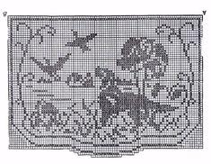 Crochet Pattern Vintage 107 Chair Set Hunting by BlondiesSpot