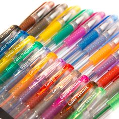 Amazon Glitter Gel Pens From Color Technik Set Of 12 Professional Artist Quality