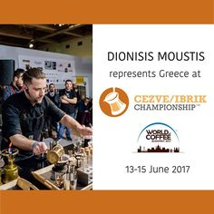 Congratulations to Dionisis Moustis of Greece and Italy's Simone Cattani, who will compete at the 2017 Cezve/Ibrik Championship at World of Coffee – Budapest!