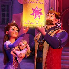 Tangled Movie) The Queen (Rapunzel's Mother) Princess Rapunzel and The King (Rapunzel's Father) Rapunzel Flynn, Disney Princess Rapunzel, Rapunzel And Eugene, Disney Tangled, Tangled 2010, Walt Disney, Disney Love, Disney Magic, Disney And Dreamworks