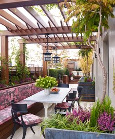 Contemporary, Eclectic Outdoor Room | Wesley Moon Inc | Dering Hall Design Connect In partnership with Elle Decor, House Beautiful and Veranda.