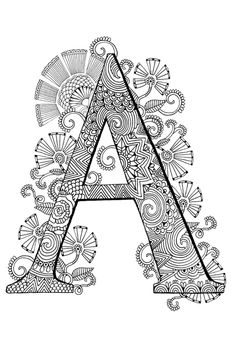 The Typography Colouring Book - Adult Colouring Book - Colour Me Awesome