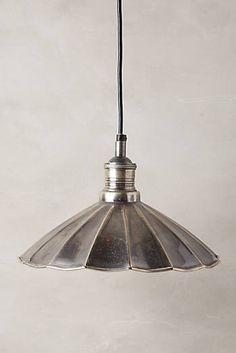 Scalloped Brass Pendant Lamp