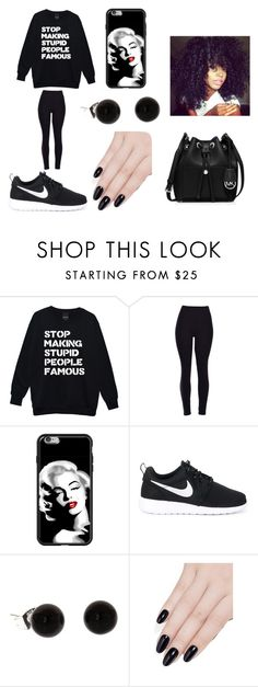 """stop making stupid people famous"" by bae03 on Polyvore featuring NIKE, ncLA and MICHAEL Michael Kors"