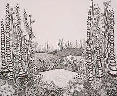 Zentangle inspired art, Original g.a.s design.