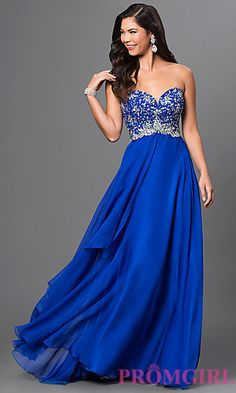 Strapless Temptation Dress with Bead Embellished Bodice at PromGirl.com
