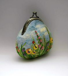 Feltro lana infeltrita Coin Purse bacio busta di piccolo sacchetto cosmetico madre giorno mamma regalo