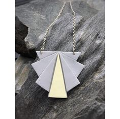 Origami fan necklace   Origami viuhka kaulakoru made by CherryAnn Suomalaista käsityötä/ Made in Finland www.madebycherryann.com Instagram @madebycherryann Facebook Made by CherryAnn