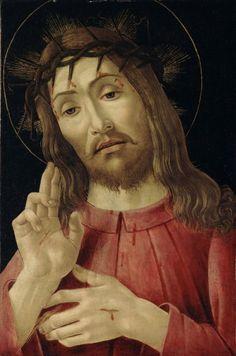 Sandro Botticelli, Cristo risorto, 1480 circa     olio su tavola, cm 45,7 x 29,8   Detroit Institute of Arts   Dono di Wilhelm R. Valentiner