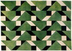 Liubov Popova geometric pattern green black white
