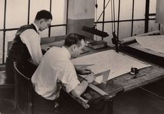 Census Bureau cartographers draw a county map in the 1930s. Learn more at http://www.census.gov/history/