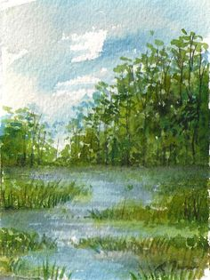 mini painting November 2017 no.14 original watercolor
