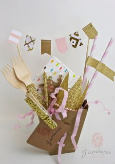 Mini Birthday Party Box Birthday Decor Present by JamboreePartyBox