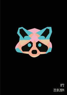 // On change de couleurs et d'heures #3 //  #raton #raccoon #esprit #animal #espritanimal #animalspirit #spirit #animals #animaux #graphisme #vectoriel